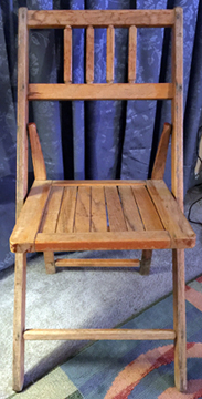 Chair from A. A. Allen and Jack Coe sr. Tent