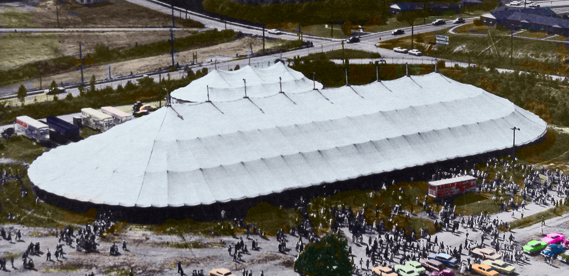 A. A. Allen 240'x480' Tent at the Atlanta Fairgrounds, Atlanta, Georgia 1960